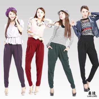 蘭陵創新版型設計爆瘦輕鬆褲4入(M-3XL) 104-09-25