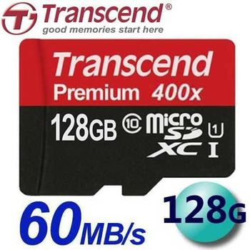 Transcend 創見 128GB 60MB/s microSDXC TF U1 C10 記憶卡