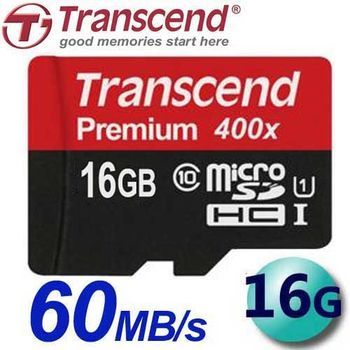 Transcend 創見 16GB 60MB/s microSDHC TF U1 C10 記憶卡