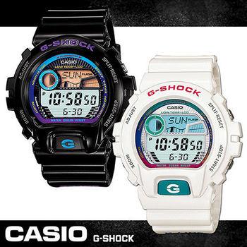 【CASIO 卡西歐 G-SHOCK 系列】夏日海灘衝浪中性錶(GLX-6900)