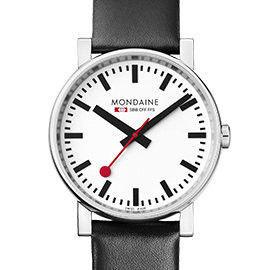 MONDAINE 瑞士國鐵經典腕錶/35mm-紅/黑錶帶 (65811)