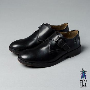 Fly London(男)★型男物語 簡約側扣真皮休閒紳士鞋 - 有型黑
