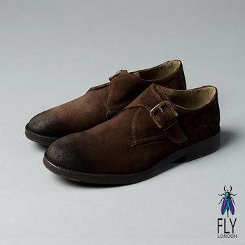 Fly London(男)★型男物語 簡約側扣真皮休閒紳士鞋 - 帥氣咖
