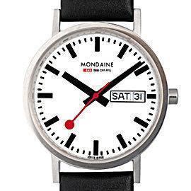 MONDAINE 瑞士國鐵Day Date雙視窗腕錶/38mm (6674411)