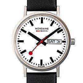 MONDAINE 瑞士國鐵Day Date雙視窗腕錶/36mm (667411)