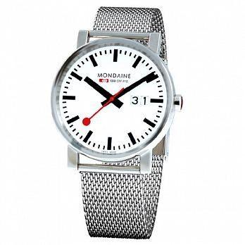 MONDAINE 瑞士國鐵時光走廊鋼鍊錶/40mm (XM-62711M )