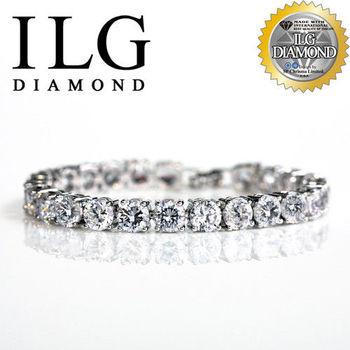 ILG鑽-頂級八心八箭擬真鑽石手鍊 奢華氣質款-BR007 主鑽75分 情人節生日禮物犒賞自己