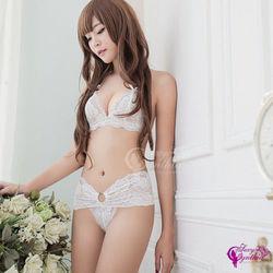情趣內衣純白花嫁蕾絲比基尼二東森網路購物件組