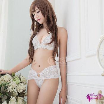 【Sexy Cynthia】情趣內衣 純白花嫁蕾絲比基尼二件組