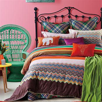 Indian 萊卡 雙人七件式純棉床罩組