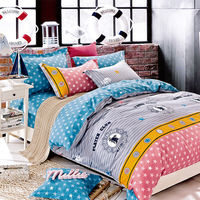 Indian 半夏時光 特大四件式純綿兩用被床包組