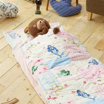 HO KANG 100%純棉 冬夏鋪棉兩用兒童睡袋 加大款-真珠美人魚