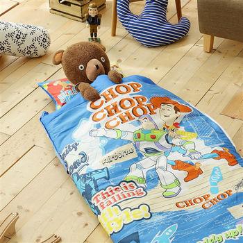 HO KANG 迪士尼授權 100%純棉 冬夏鋪棉兩用兒童睡袋 加大款-玩具總動員