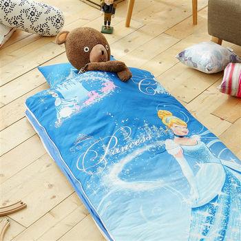 HO KANG 迪士尼授權 100%純棉 冬夏鋪棉兩用兒童睡袋 加大款-公主