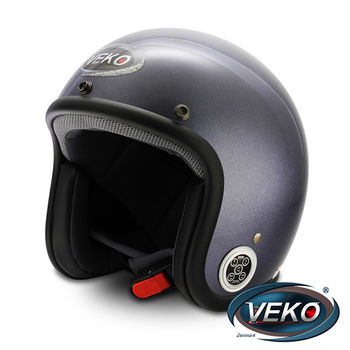 VEKO藍芽4.0立體聲復古安全帽BTS-C2珠光紫藍