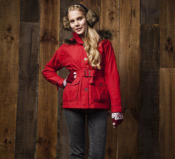 【FOXFRIEND】女款 GORE-TEX 防水透氣單件式連帽式外套(1086)
