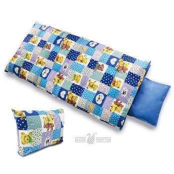 【遊遍天下】MIT台灣製後背式兒童羽毛絨睡袋(藍色大熊)
