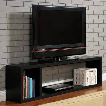 咱的厝 DIY現代感簡約電視櫃/置物櫃/收納櫃(黑色)