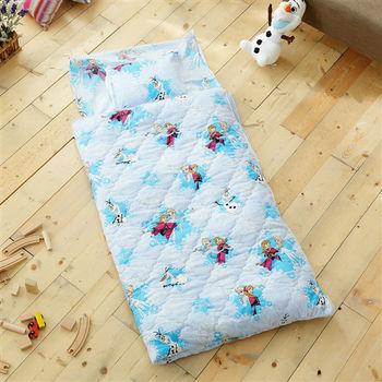 HO KANG 迪士尼授權 雪紡棉冬夏鋪棉兩用兒童睡袋-冰雪藍