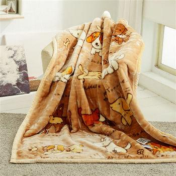 HO KANG 新合纖單人被頭柔軟毛毯-快樂時光