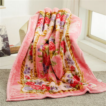 HO KANG 新合纖單人被頭柔軟毛毯-花嫁