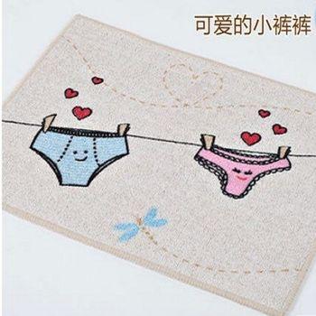 【協貿】加厚動漫可愛卡通小褲褲地墊