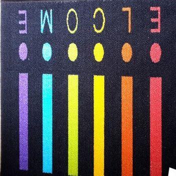 【協貿】彩色音符個性圖案吸水防滑門墊