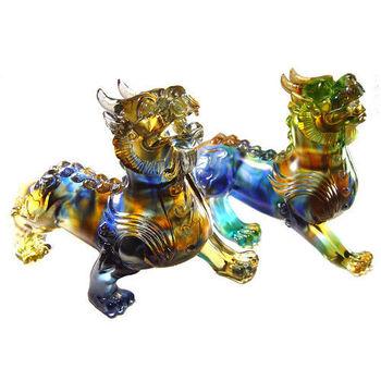 【開元琉璃】招財鎮宅琉璃擺飾禮品~~雙神獸(大)貔貅(天鹿)