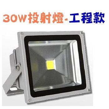 LED投射燈 30W / 30瓦 投射燈 (工程款) LED投光燈 LED探照燈 廠家直銷 (保修一年)