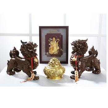 開元琉璃【帝王貔貅】(特大)招財鎮宅銅雕~一對 貔貅(天祿)