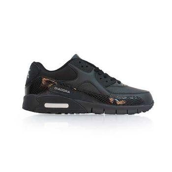 【DIADORA】男流行跑鞋-慢跑 路跑 黑