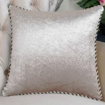 【協貿】高檔壓花香檳沙發大抱枕含芯