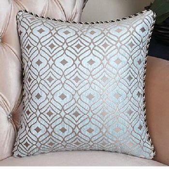【協貿】高檔藍綠圖樣沙發大抱枕含芯