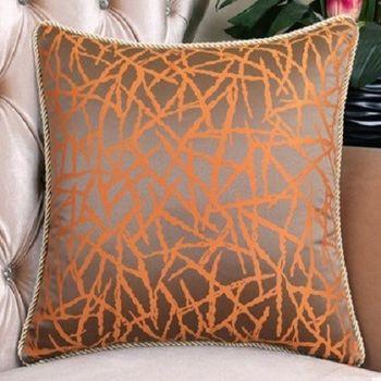 【協貿】時尚橘色冰裂紋沙發大抱枕含芯