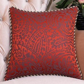【協貿】紅色簡約時尚提花沙發大抱枕含芯