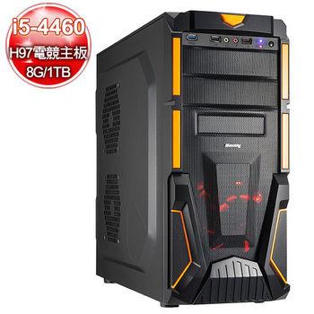 微星電競H97平台【王冠守護】i5四核 750-2G獨顯 1TB大容量燒錄電腦