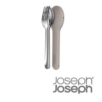 《Joseph 英國創意餐廚》翻轉不鏽鋼餐具組(灰)-81034
