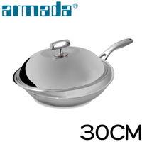 ~armada~SWIII 5層316不鏽鋼複合金瑞士單柄炒鍋 ^#40 30cm ^#4