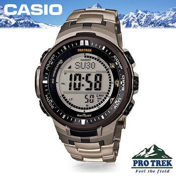 【CASIO 卡西歐 登山錶 系列】電波登山錶(PRW-3000T)