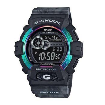 G-SHOCK 極限滑雪運動限量潮牌休閒腕錶-黑-GLS-8900AR-1