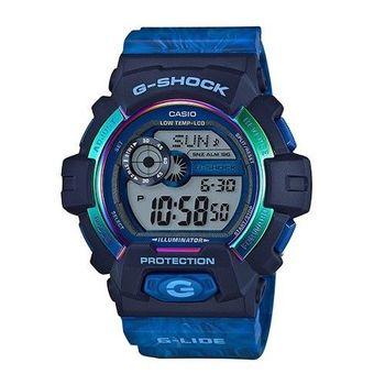 G-SHOCK 極限滑雪運動限量潮牌休閒腕錶-藍-GLS-8900AR-2
