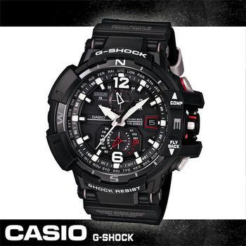 【CASIO 卡西歐 電波錶】旗鑑款-太陽能電波錶飛行錶(GW-A1100)