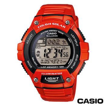 CASIO卡西歐 潮流戶外運動太陽能電子錶 W-S220C-4A