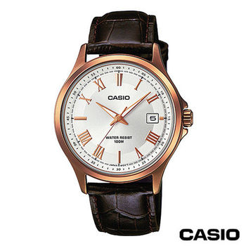 CASIO卡西歐 指針系列時尚商務石英男錶 MTP-1383RL-7A