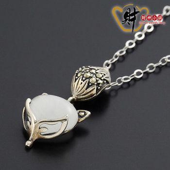 【財神小舖 】小銀狐項鍊-珍珠白(925純銀)《含開光》斬爛桃花/防小三
