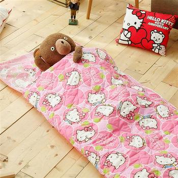 HO KANG 三麗鷗授權 冬夏鋪棉兩用兒童睡袋 加大款-  蘋果派對