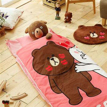HO KANG 冬夏鋪棉兩用兒童睡袋 加大款-熊大親親篇