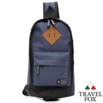 Travel Fox 旅狐波提單肩斜背包(藍)(TB666-47)