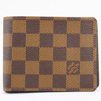 LV N60895 Damier棋盤格紋折疊中短夾.現貨