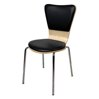 【咱的厝】法朵休閒椅/餐椅/造型椅/洽談椅(黑色)